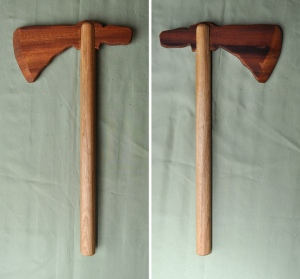 Tomahawk Hickory and Cherry 16 x 8 inches $65