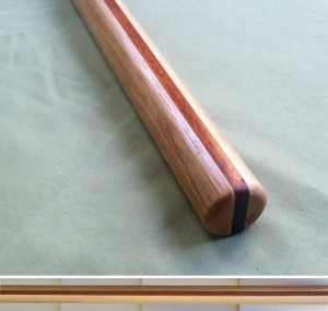 Handcarved Jo Hickory and Paduak 50 x 1-1/8 inches $110
