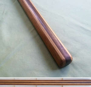Handcarved Jo Jatoba, Hickory, and Katalox 50 x 1-1/8 inches $120