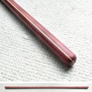 Handcarved reverse-taper Jo Purpleheart and Hickory 50 x 1-1/8 inches (1 inch at center) $125